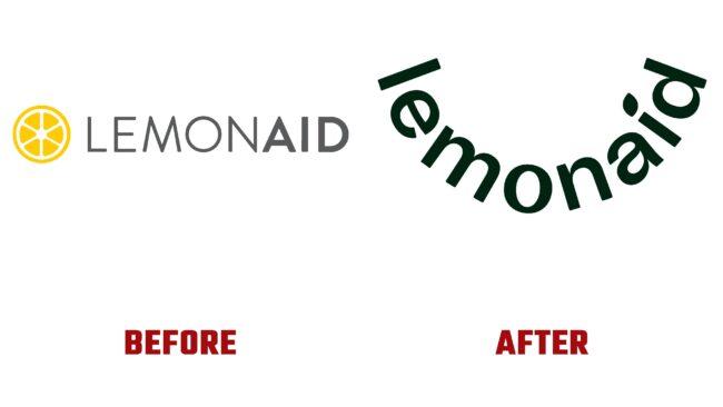 Lemonaid Health Antes y después del logotipo (historia)