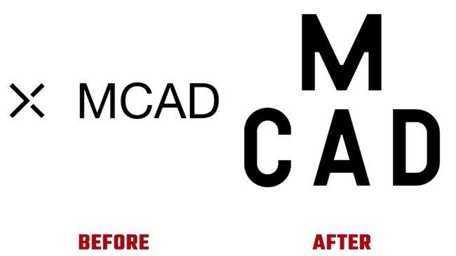 Minneapolis College of Art and Design (MCAD) Antes y Despues del Logotipo (historia)