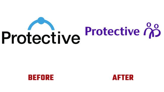 Protective Antes y Después del Logotipo (historia)