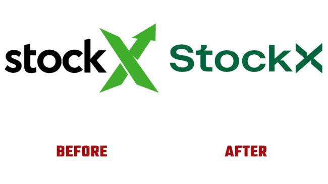 StockX Antes y Después del Logotipo (historia)