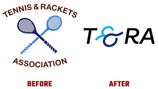 Tennis and Rackets Association Antes y Despues del Logotipo (historia)