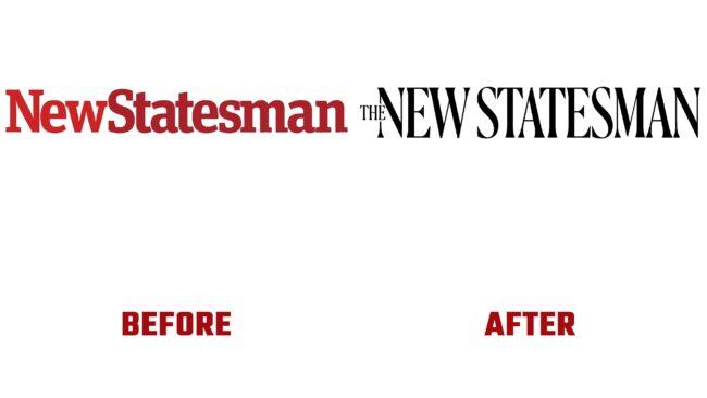 The New Statesman Antes y Despues del Logotipo (historia)