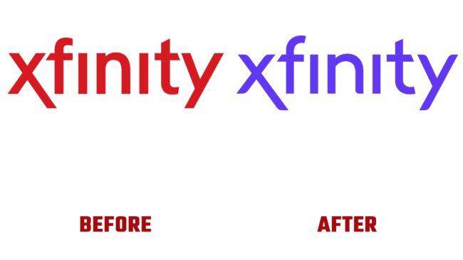 Xfinity Antes y Despues del Logotipo (historia)